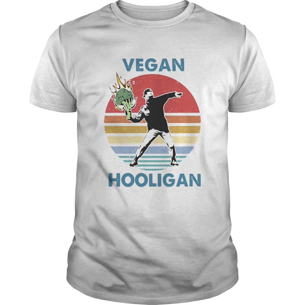 Vegan Hooligan Vintage Retro shirt Classic Men's