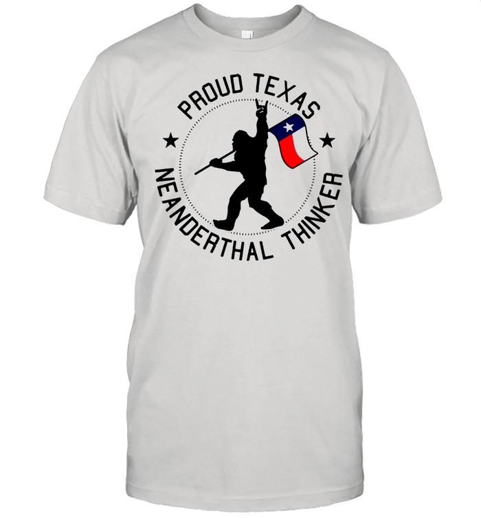 Bigfoot Proud Texas Neanderthals Thinker T-shirt Classic Men's T-shirt