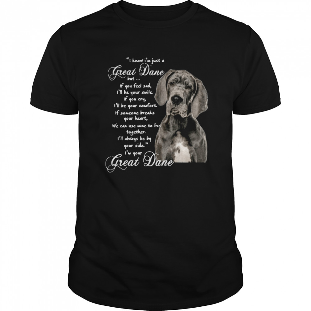 I Know I'm Just A Great Dane But If You Feel Sad I'll Be Your Smile If You Cry shirt Classic Men's