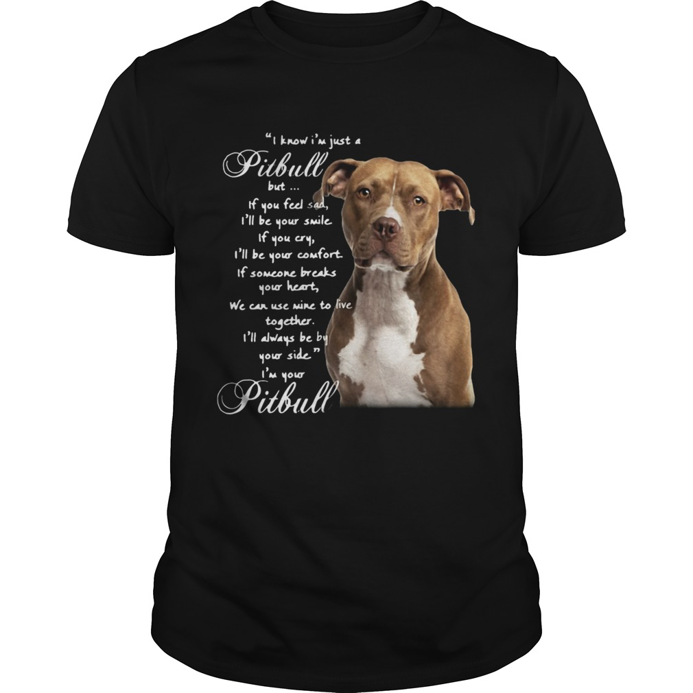 I Know Im Just A Pitbull But If You Feel Sad Ill Be Your Smile If You Cry shirt Classic Men's