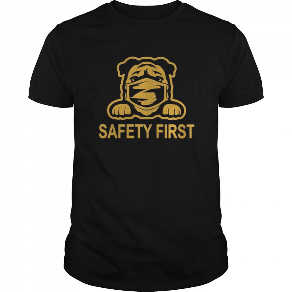 Pug wear mask safety first shirt Classic Men's