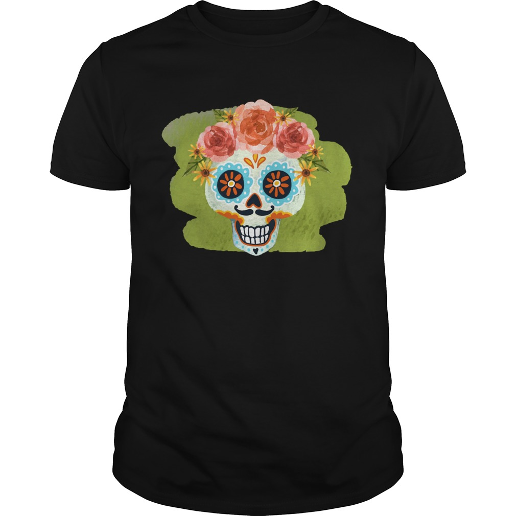Skull Day Of The Dead In Mexican shirt Classic Men's