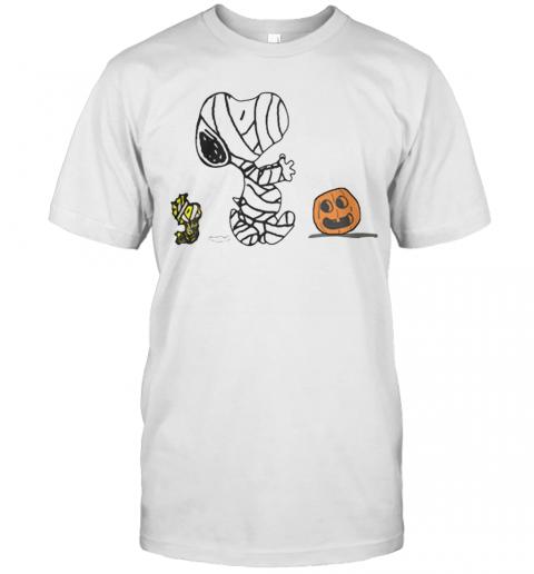Snoopy And Woodstock Pumpkin Halloween shirt Classic Men's
