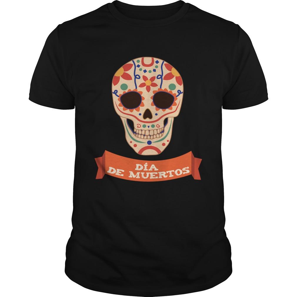 Sugar Skull Dia De Muertos Day Dead shirt Classic Men's