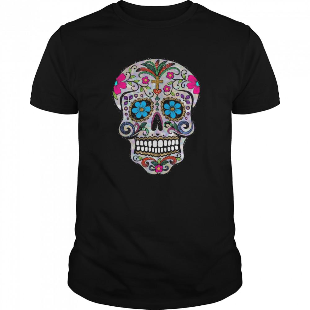 Skulls Dia De Muertos Day Of The Dead shirt Classic Men's