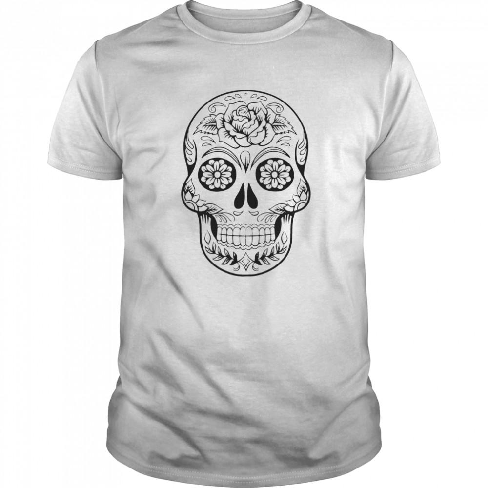Sugar Skull Tattoos Day Of The Dead shirt Classic Men's