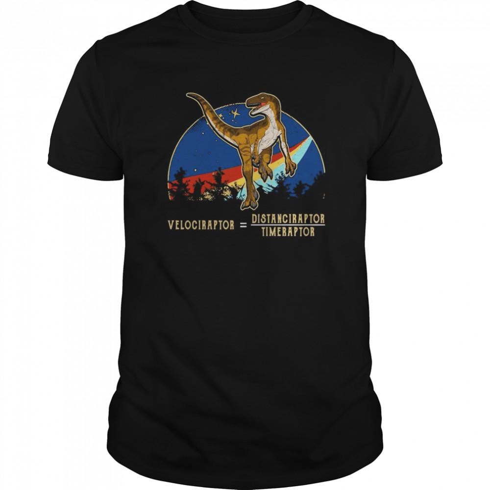 Velociraptor Distanceraptor Timeraptor Vintage shirt Classic Men's