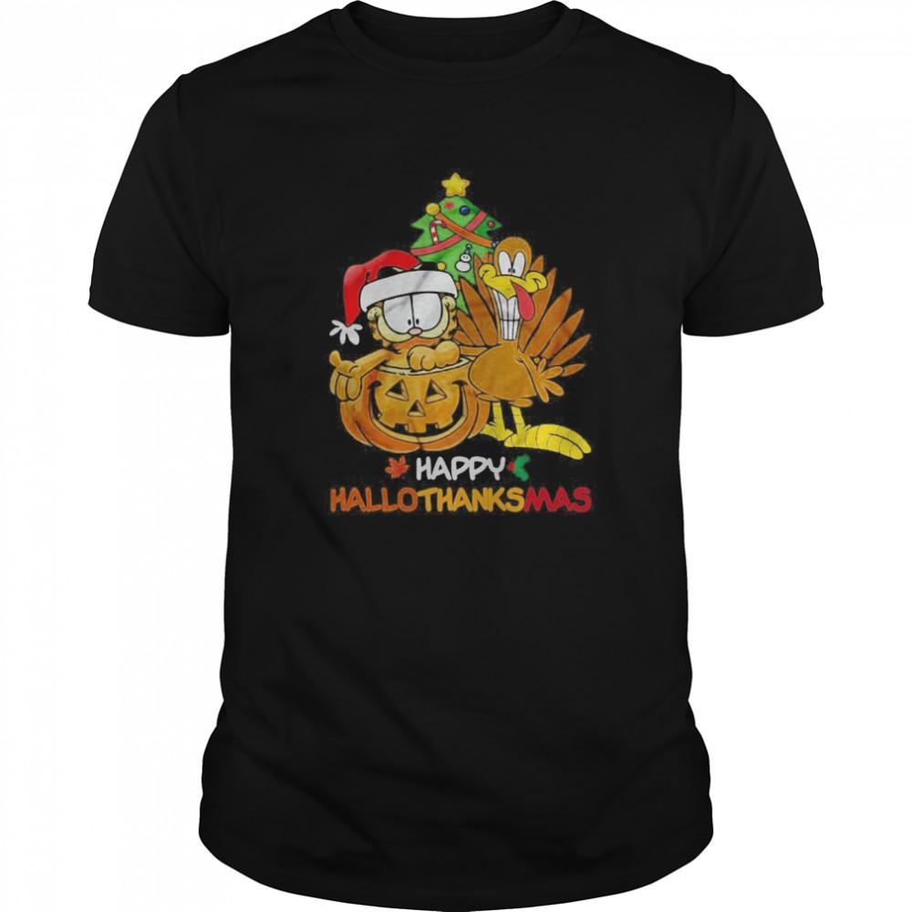 Garfield Happy Hallothanksmas shirt Classic Men's