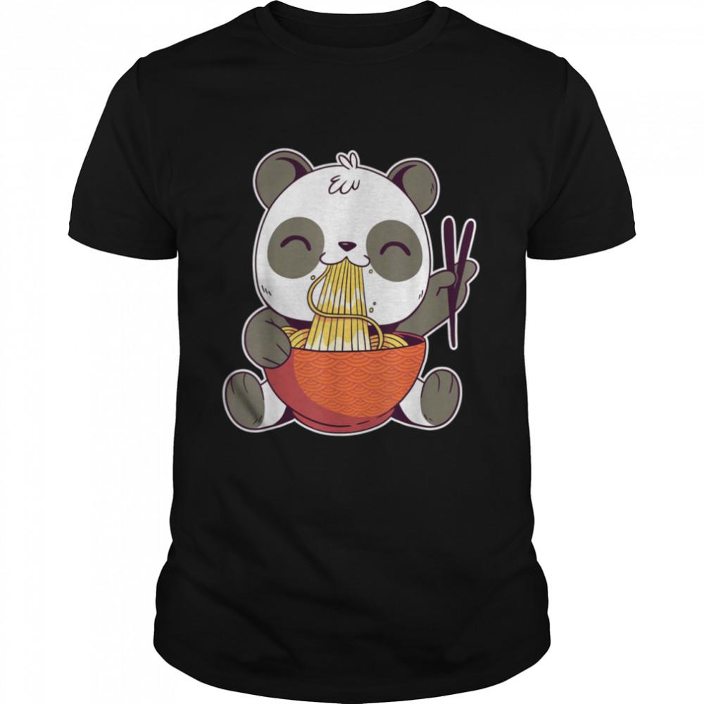 Kawaii Panda Eating Ramen Noodles shirt Classic Men's T-shirt