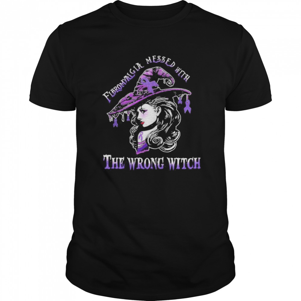 Fibromyalgia awareness wrong witch ladies halloween shirt Classic Men's