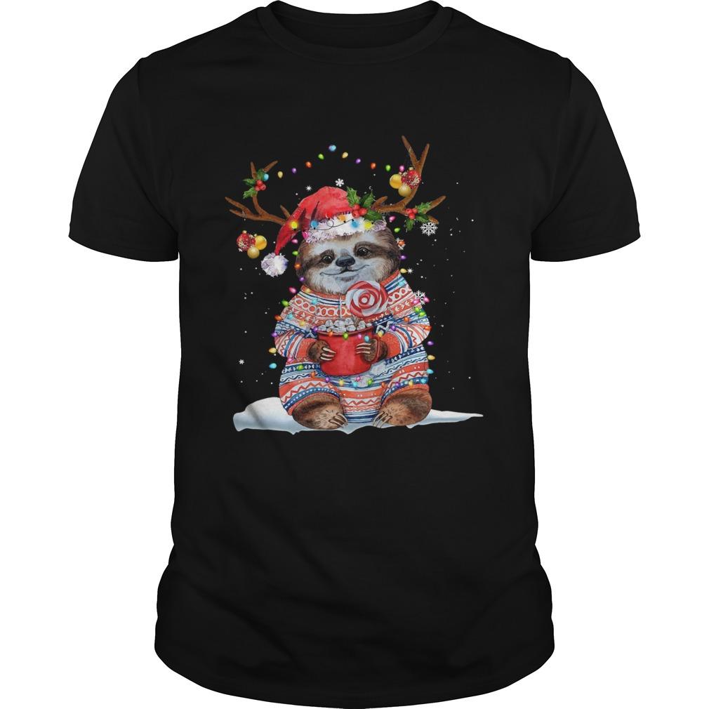 Grateful Sloth Reinder Light Christmas shirt Classic Men's