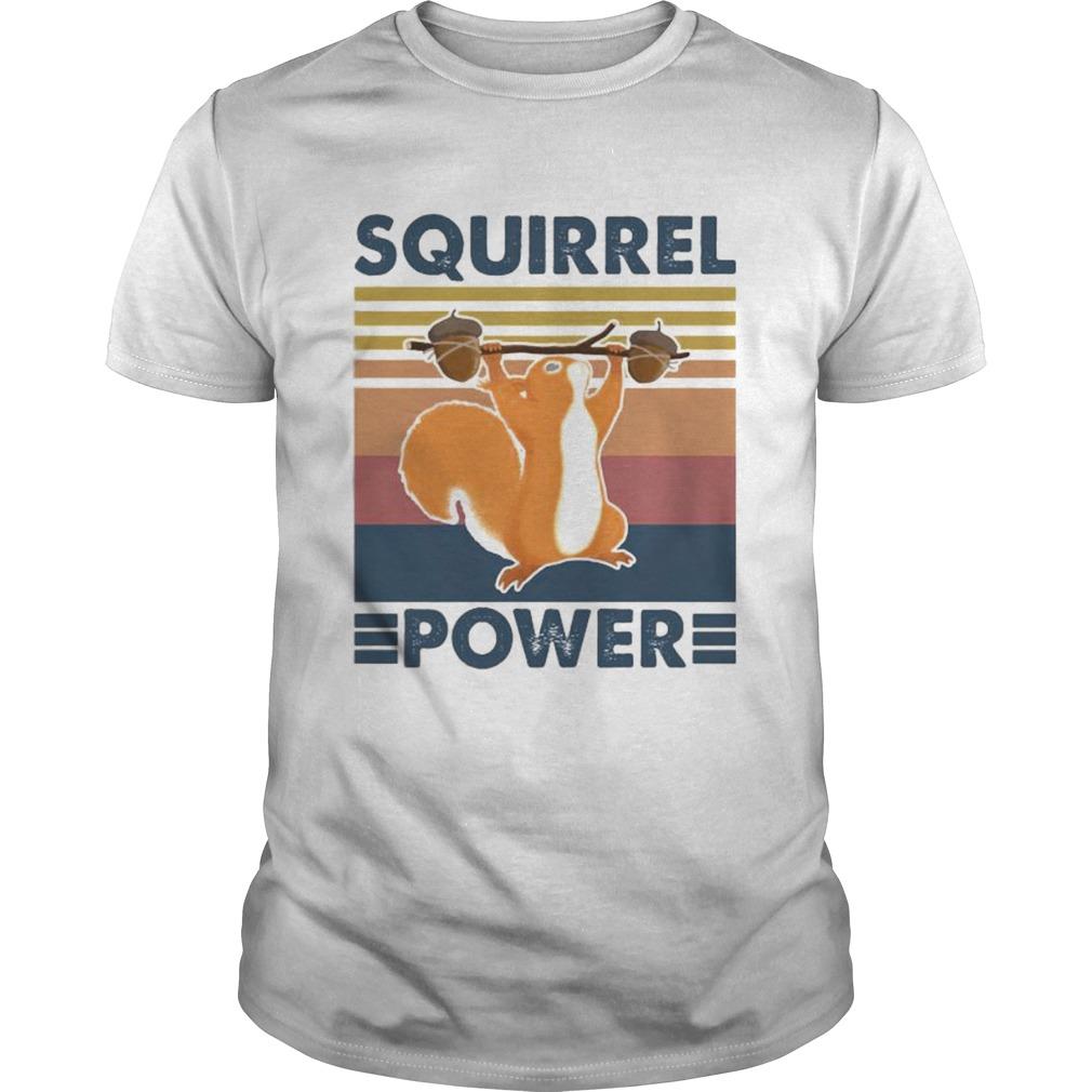 Squirrel power vintage retro shirt Classic Men's
