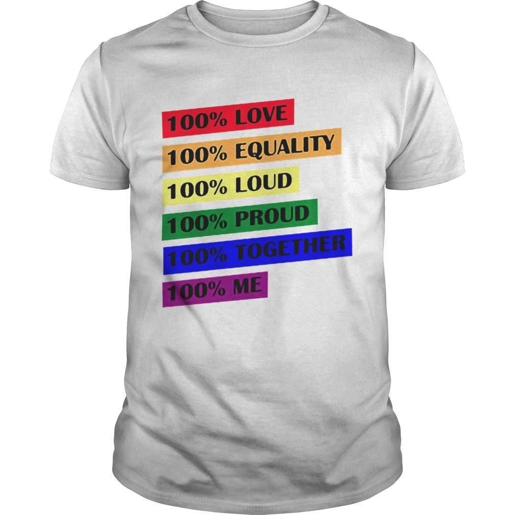100 Love Equality Loud Proud Together Me shirt Classic Men's