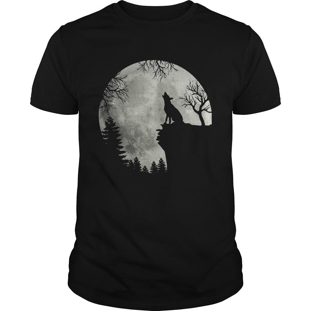 German Shepherd And The Moon shirt Classic Men's