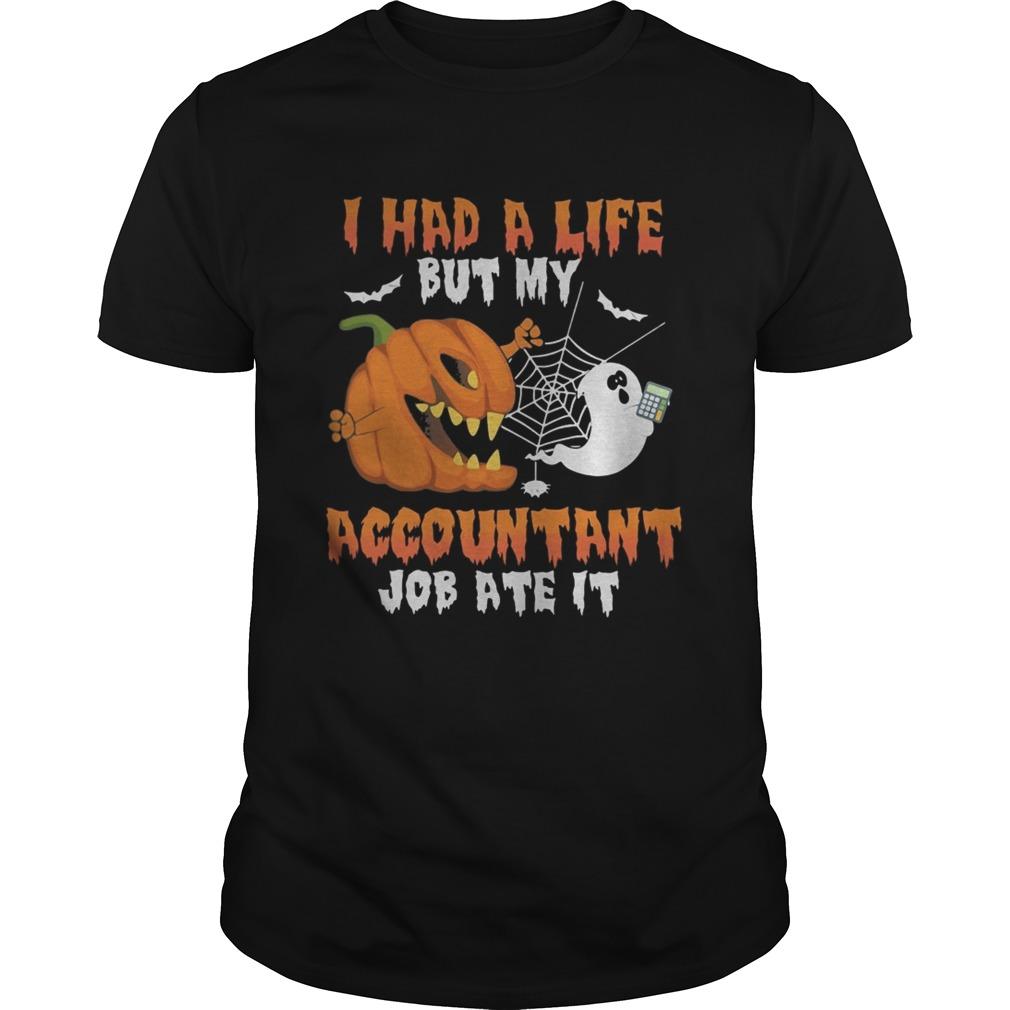 Halloween i had a life but my accountant job ate it shirt Classic Men's