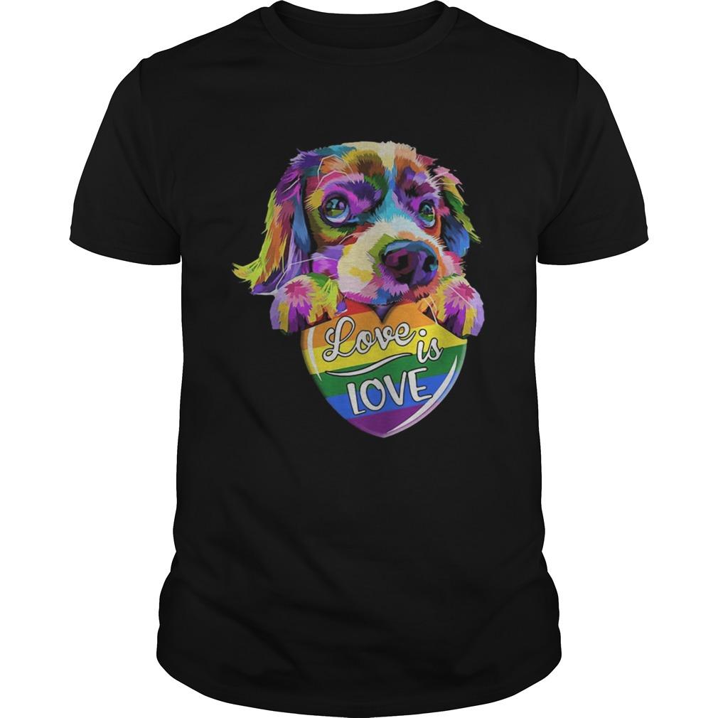 LGBT Dog love is love shirt Classic Men's