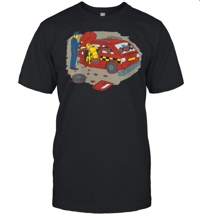 Police arresting a crash test dummy shirt Classic Men's T-shirt