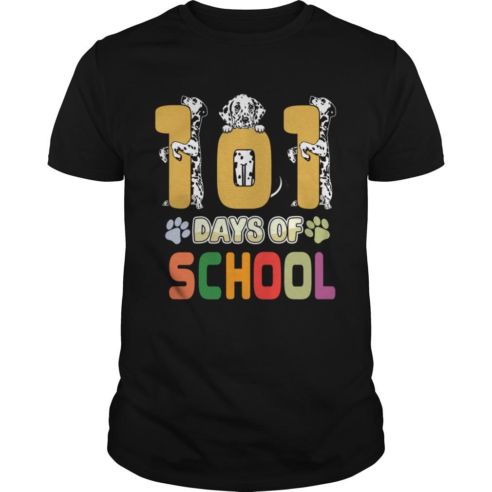 101 Days Of School Dalmation Dog Teachers Gift shirt Classic Men's