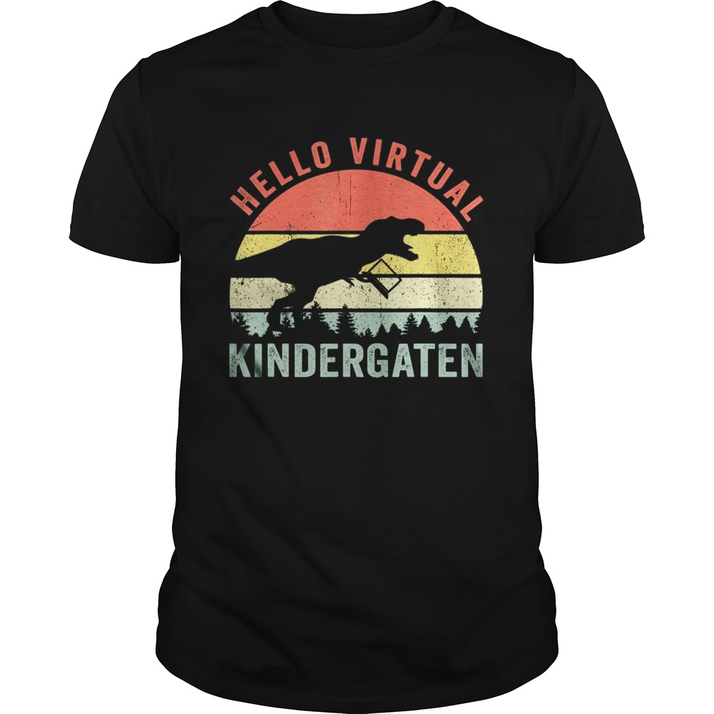 Dinosaur Hello Virtual Kindergarten shirt Classic Men's