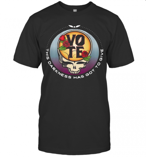 Skull Vote This Darkness Has Got To Give shirt Classic Men's
