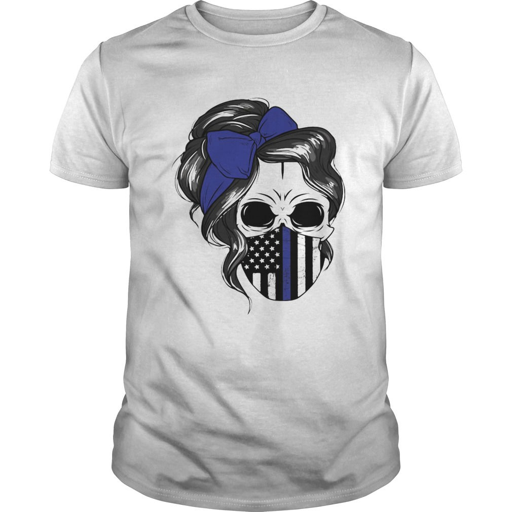 Skull Woman Face Mask American Flag shirt Classic Men's