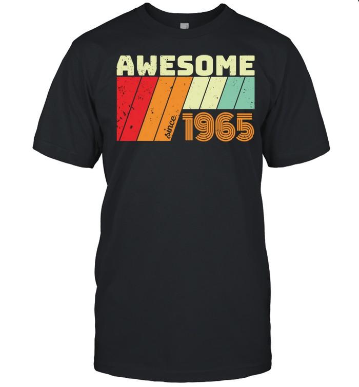 56 Geschenk Geburtstag AWESOME SINCE 1965 shirt Classic Men's T-shirt