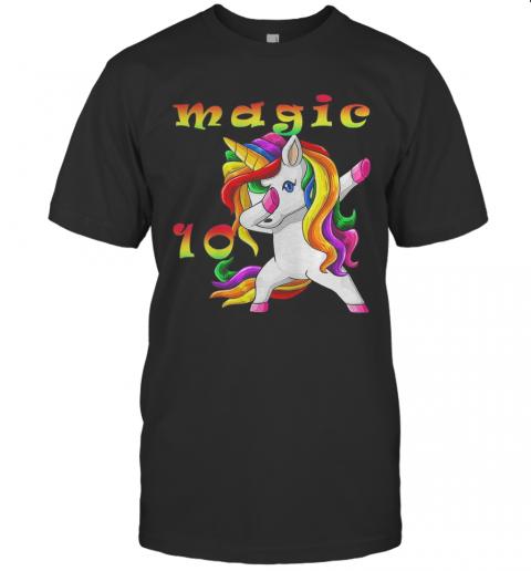 LGBT Unicorn Magic 10Th Birthday shirt Classic Men's