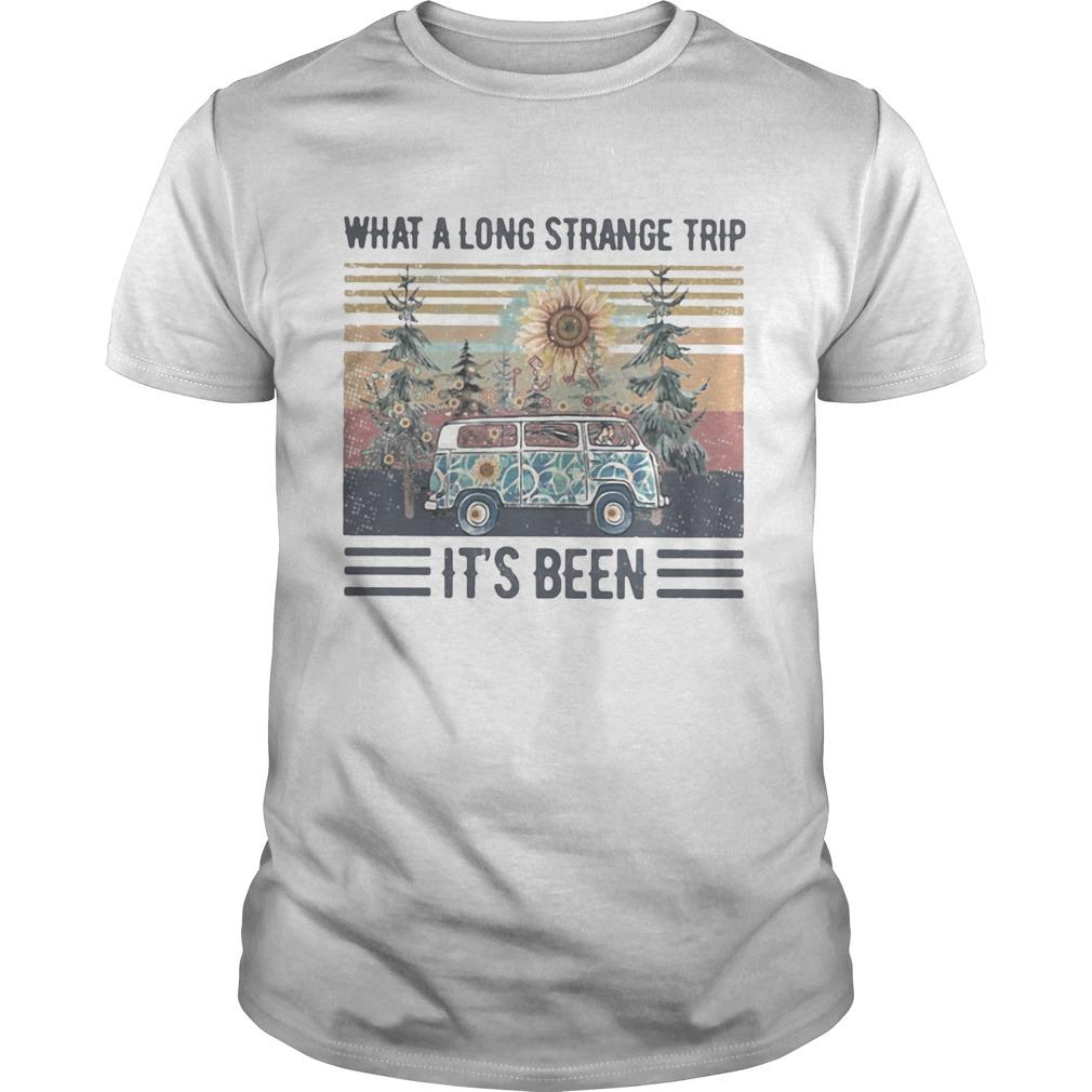 What a long strange trip its been Sunflower Vintage retro shirt Classic Men's