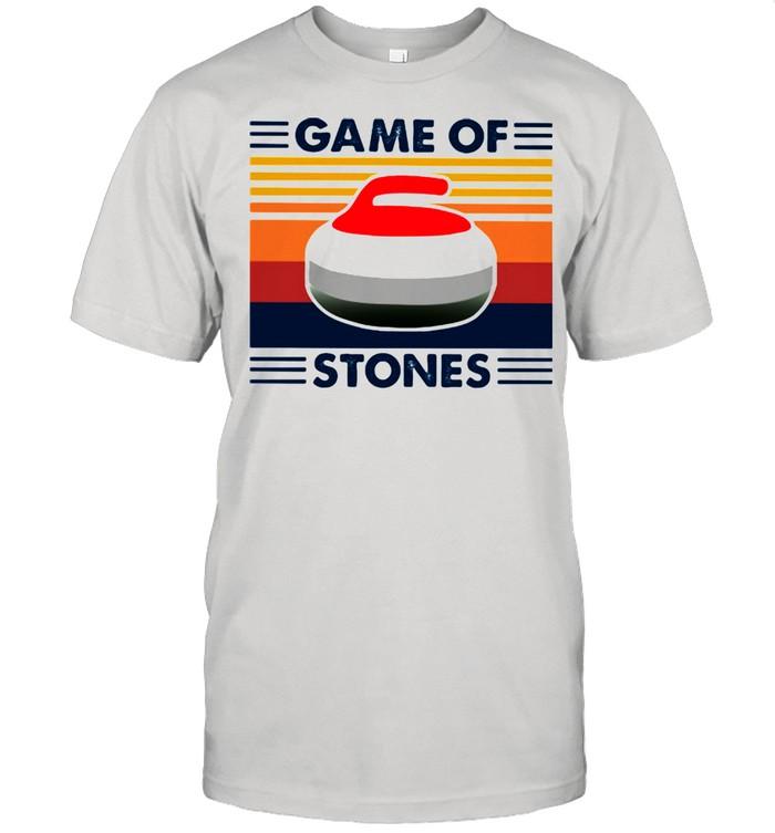 Game Of Stones Curling Vintage  Classic Men's T-shirt