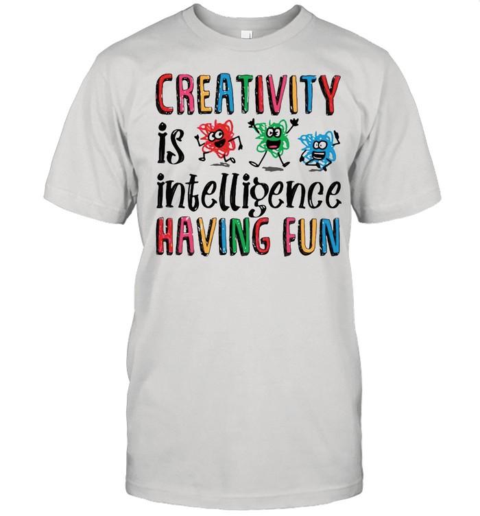 Scribble Day Creativity Is Intelligence Having Fun Scribble Day T-shirt Classic Men's T-shirt