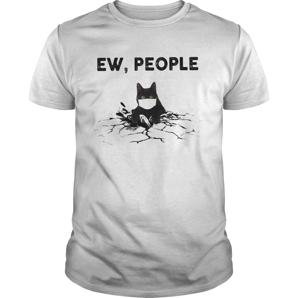 Black Cat face mask EW people shirt Classic Men's