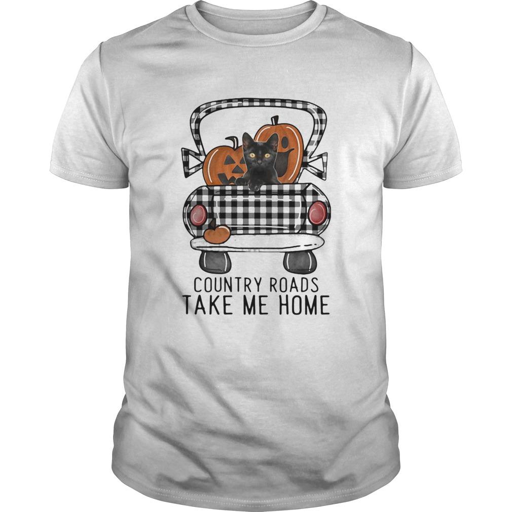 Country Roads Take Me Home Pumpkin Cat Halloween shirt Classic Men's