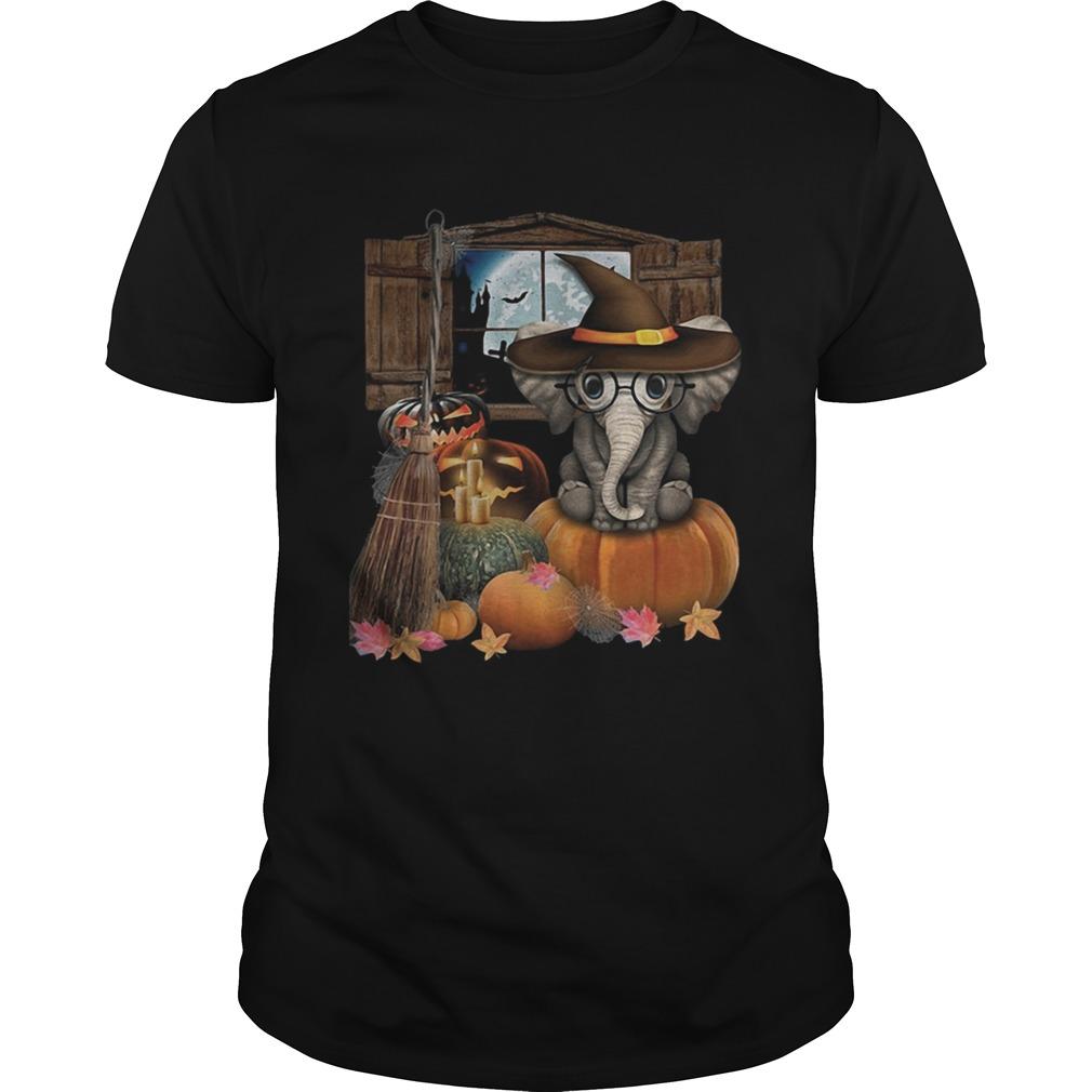 Elephant witch pumpkin halloween shirt Classic Men's