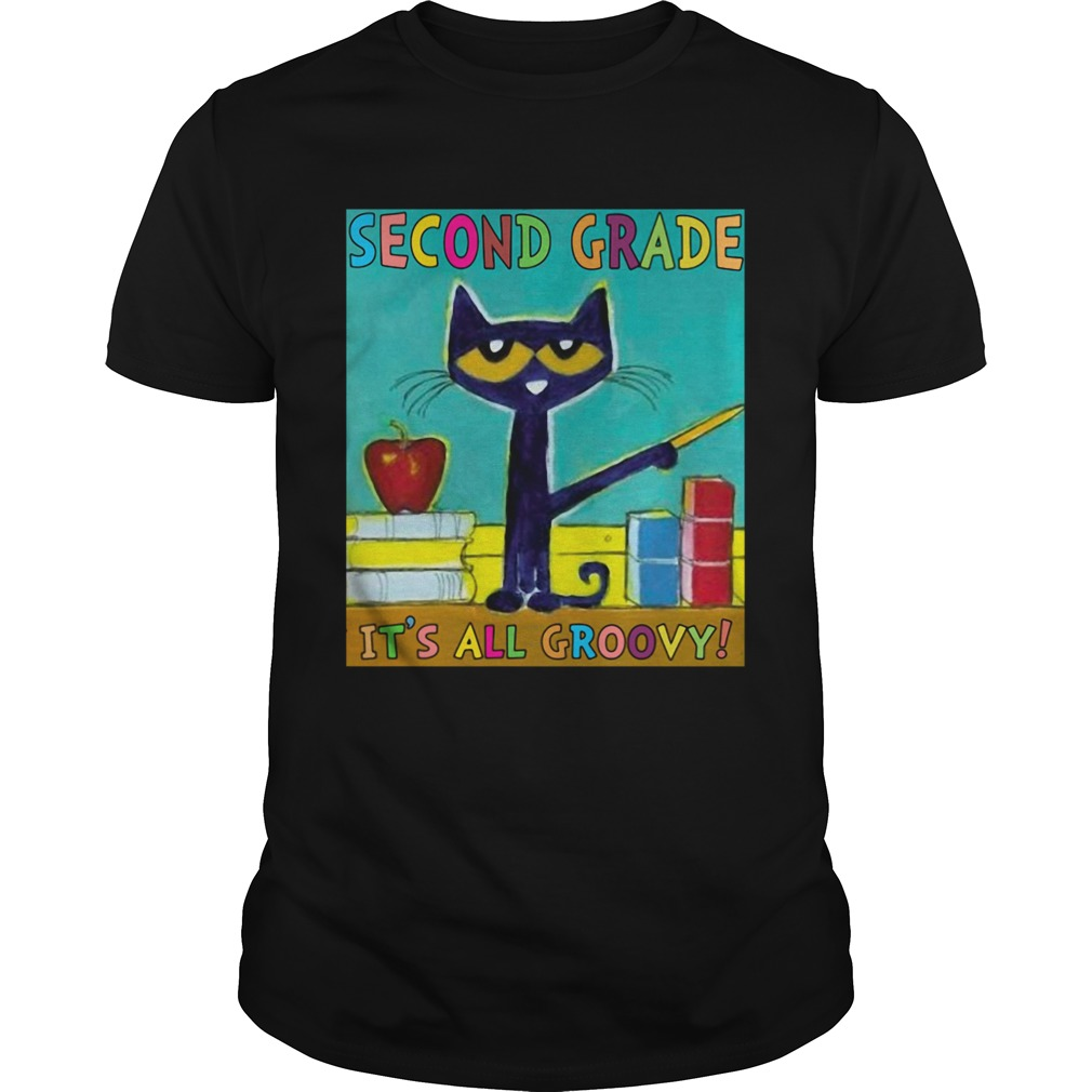 SECOND GRADE ITS ALL GROOVY CAT shirt Classic Men's