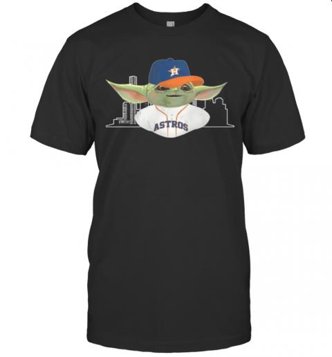 Baby Yoda Houston Astros Baseball Player shirt Classic Men's