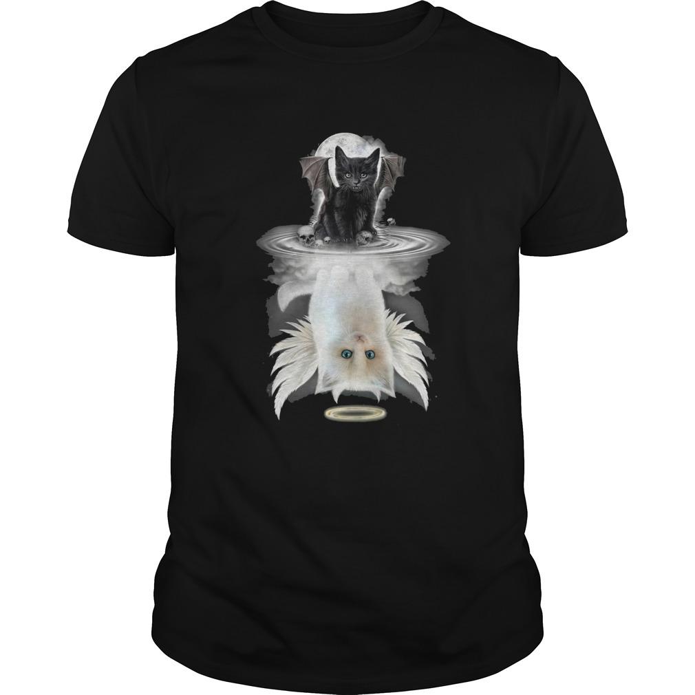 Black Bat Cat Water Reflection shirt Classic Men's