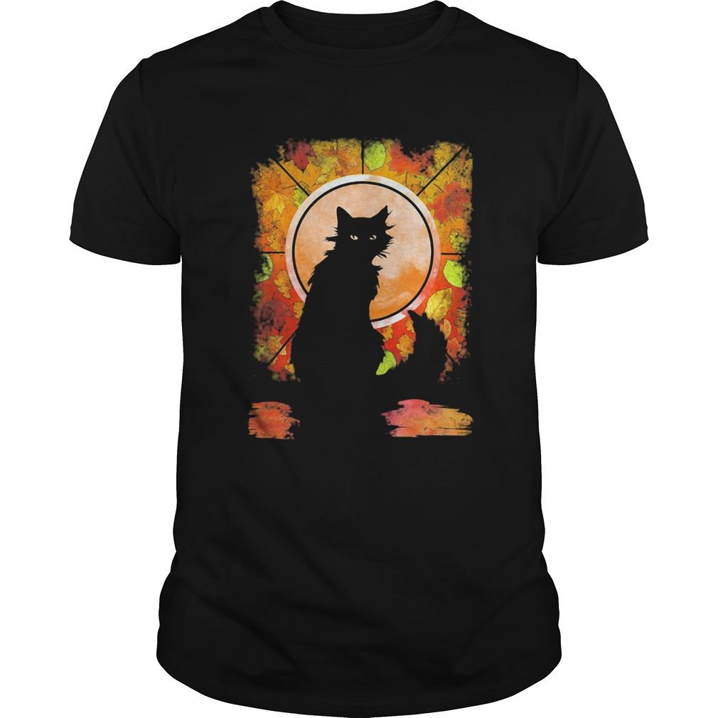 Black Cat Autumn shirt Classic Men's