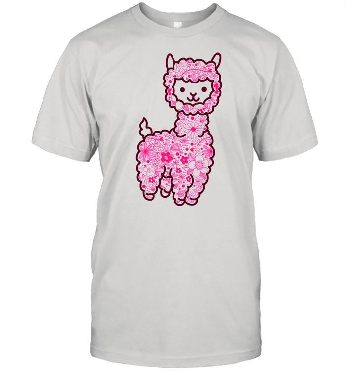 The Alpaca Pack Pink Retro Vintage Flower Floral Spring shirt Classic Men's T-shirt
