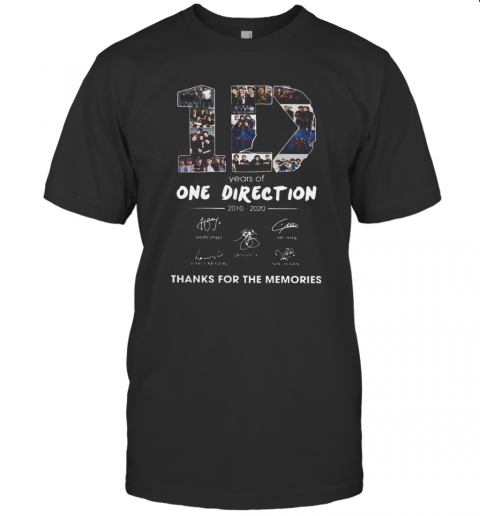10 Years Of One Direction 2010 2020 Signatures shirt Classic Men's