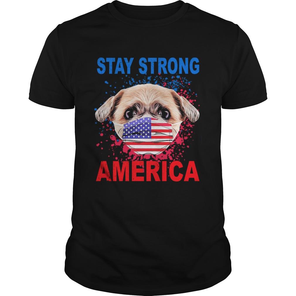 Shih Tzu Face Mark Stay Strong America shirt Classic Men's