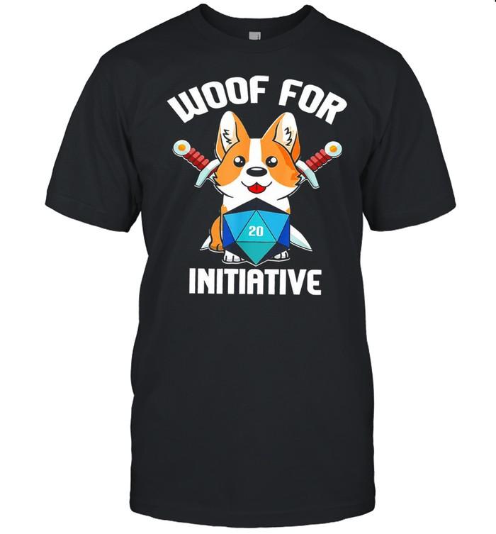 Baby corgi woof for initiative shirt Classic Men's T-shirt