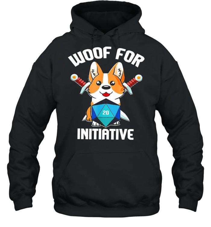 Baby corgi woof for initiative shirt Unisex Hoodie