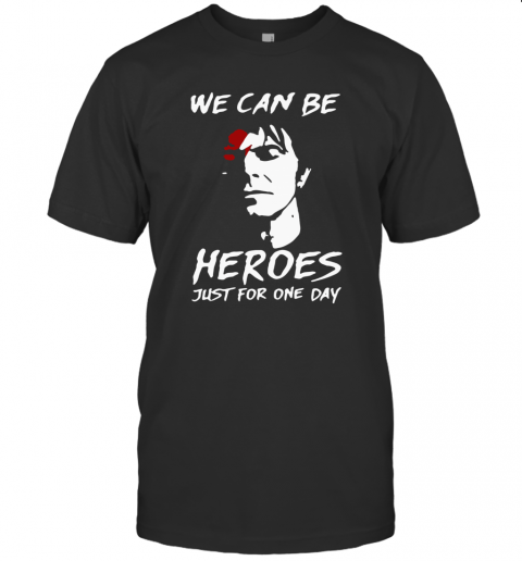 David Bowie We Can Be Heroes Just For One Day shirt Classic Men's