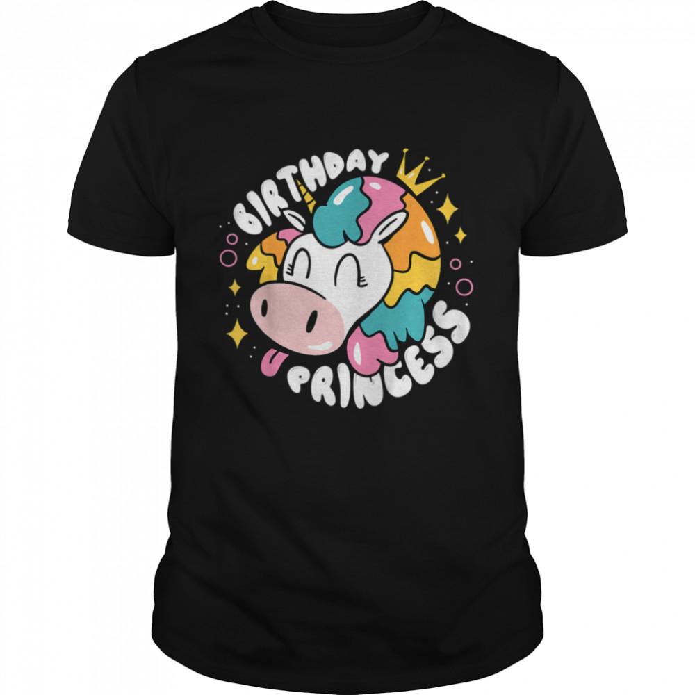 Kids Birthday Princess UnicornCow Girls Birthday shirt Classic Men's T-shirt