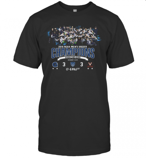 2019 NCAA Men's Soccer Champions Georgetown Hoyas shirt Classic Men's