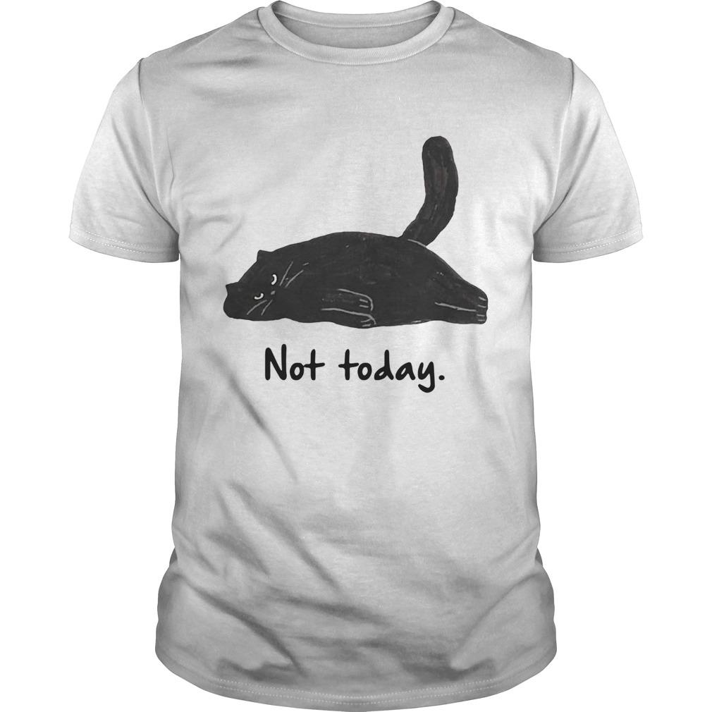 Black cat laziness not today shirt Classic Men's