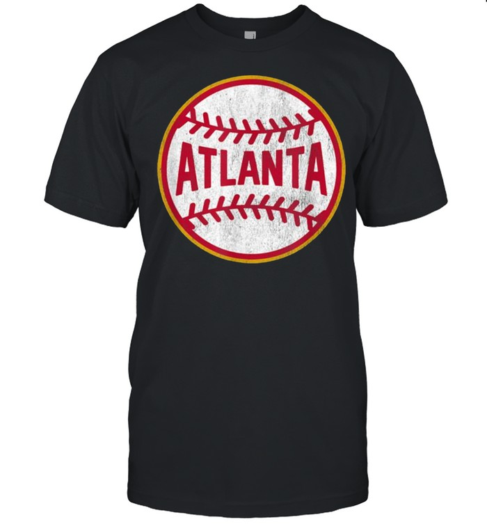 Vintage Atlanta Baseball Stitches  Classic Men's T-shirt