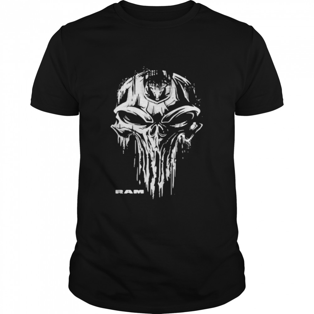 Punisher With Logo Ram Trucks  Classic Men's T-shirt