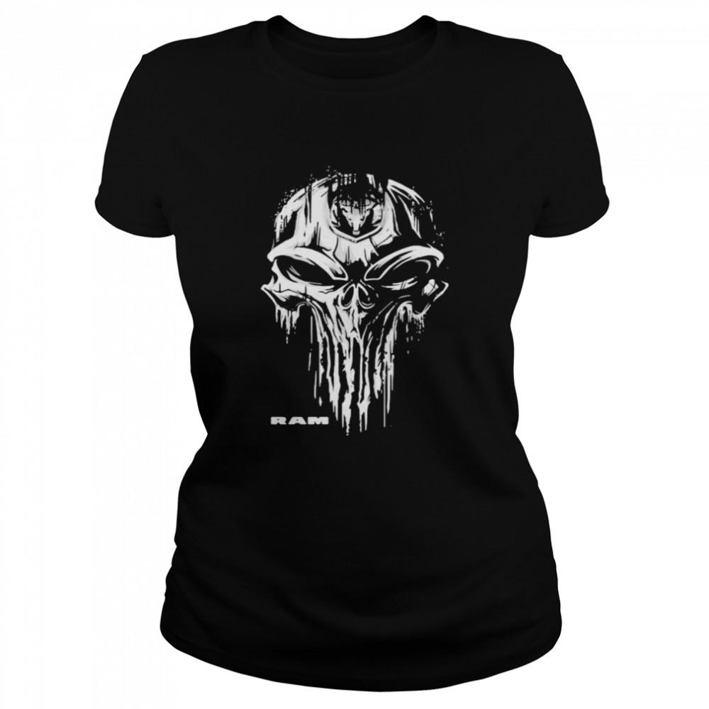 Punisher With Logo Ram Trucks  Classic Women's T-shirt