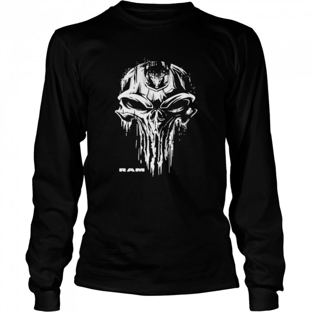 Punisher With Logo Ram Trucks  Long Sleeved T-shirt